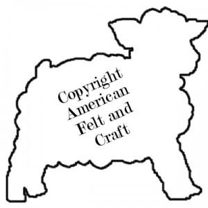 Diy felt sheep sachet american felt and craft the blog for Lamb cut out template