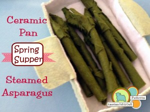 Felt Asparagus and Pan  Pattern