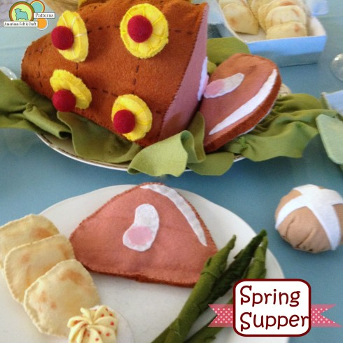 Spring Supper Felt Food Pattern - American Felt and Craft