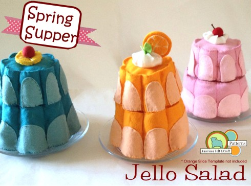 Felt Jello Pattern and Tutorial