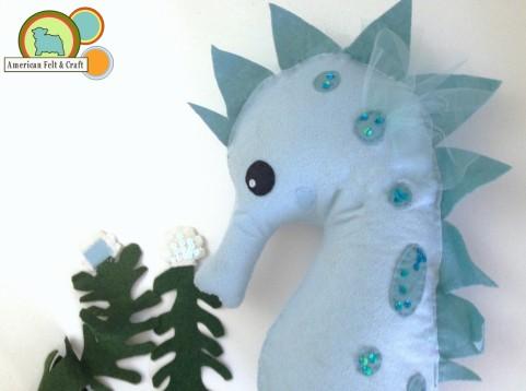 felt seahorse stuffy