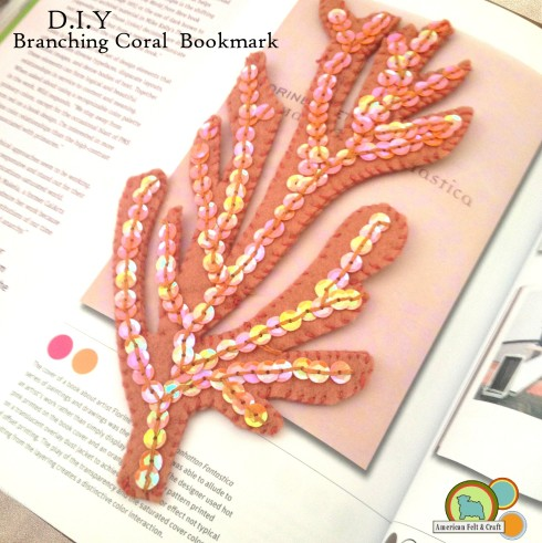 Felt Bookmark tutorial - Sea Coral