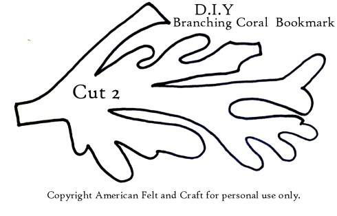 Template for branching coral