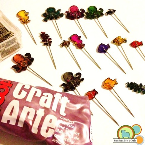 Create Custom Sewing Pins with Shrink Film