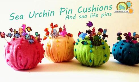 DIY felt sea urchin pincushion