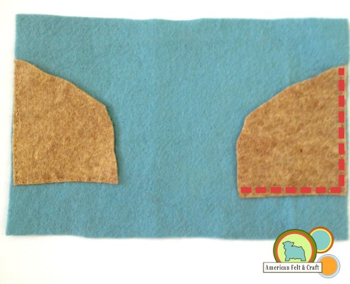 attach pocket sides to felt back - Octoneedlebook