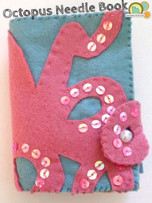 Octopus felt needle book