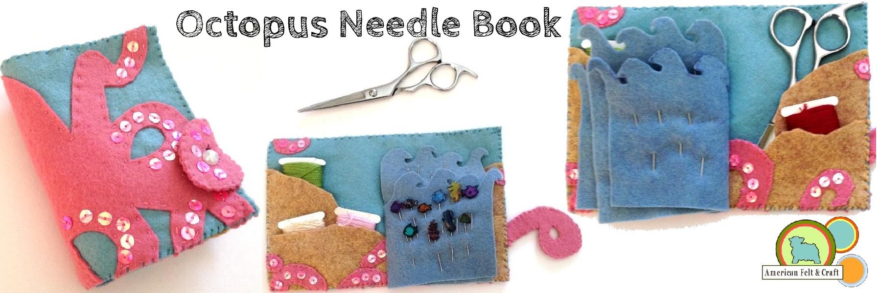Felt craft book - Octopus Needlebook Felt Craft Tutorial
