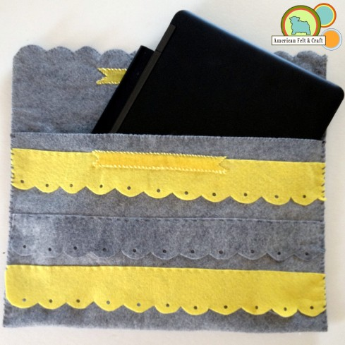 Felt laptop sleeve tutorial