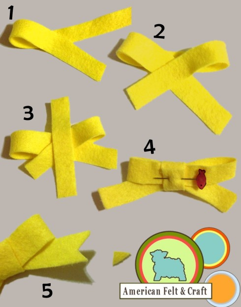 The making of a felt bow