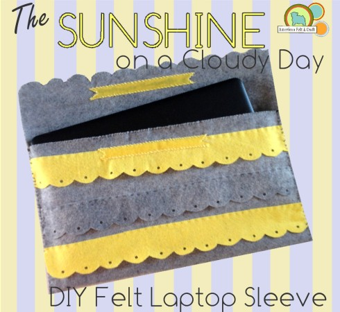 DIY laptop - easy felt