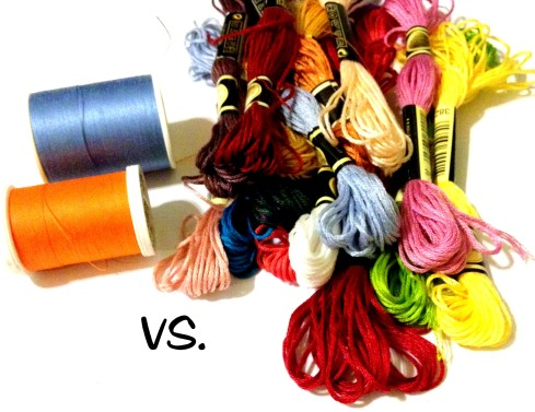 Cross Stitching Thread Vs Spool Thread in crafting.