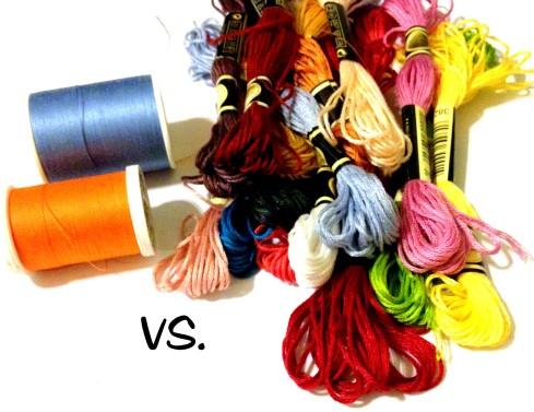 Cross Stitching Thread Vs Spool Thread in crafting.