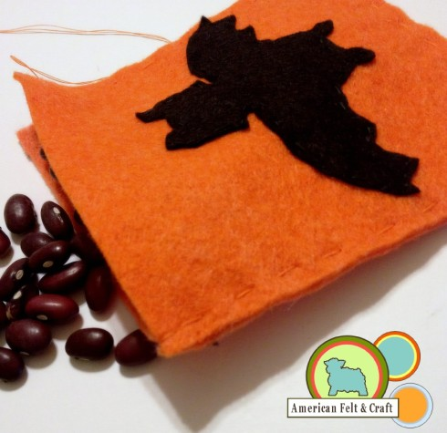 How to make a felt bean bag, picture tutorial, great beginner project.