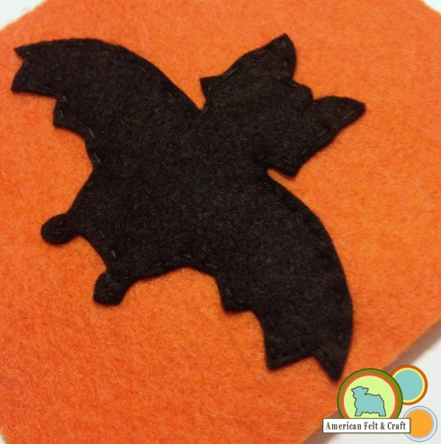 Cute felt bat bean bag