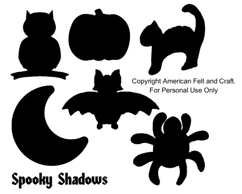Easy Halloween templates for felt bean bags - please do not pin templates.
