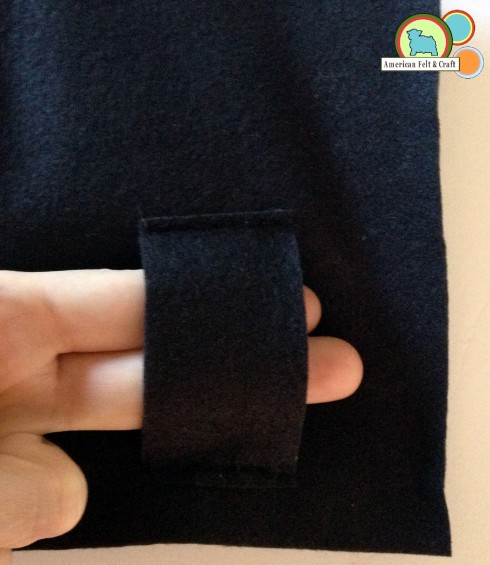 Attach belt loop to felt pouch - DIY tutorial pattern