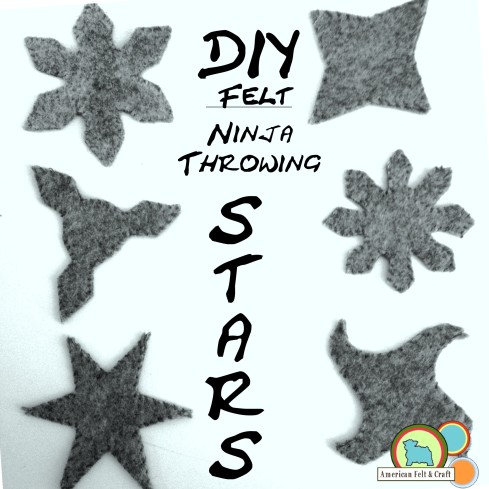 DIY felt ninja throwing stars - ninjago toy