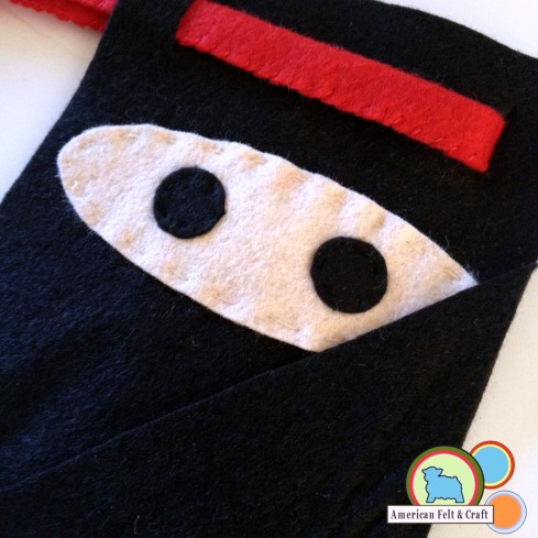Felt Ninja Pouch and Throwing Stars tutorial - great beginner sewing project.
