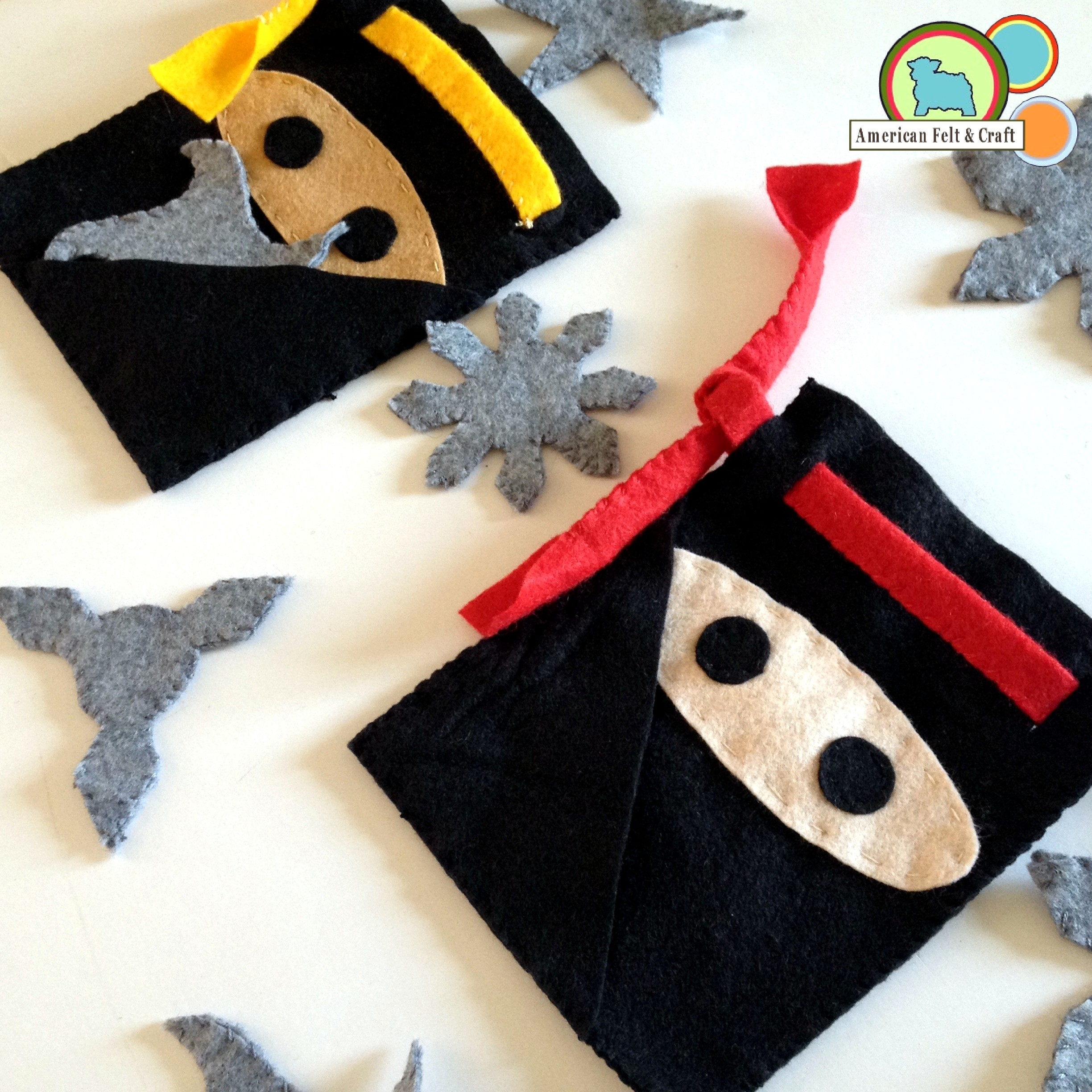 Craft: Hai- Ya! DIY Felt Ninja Pouches And Throwing Stars