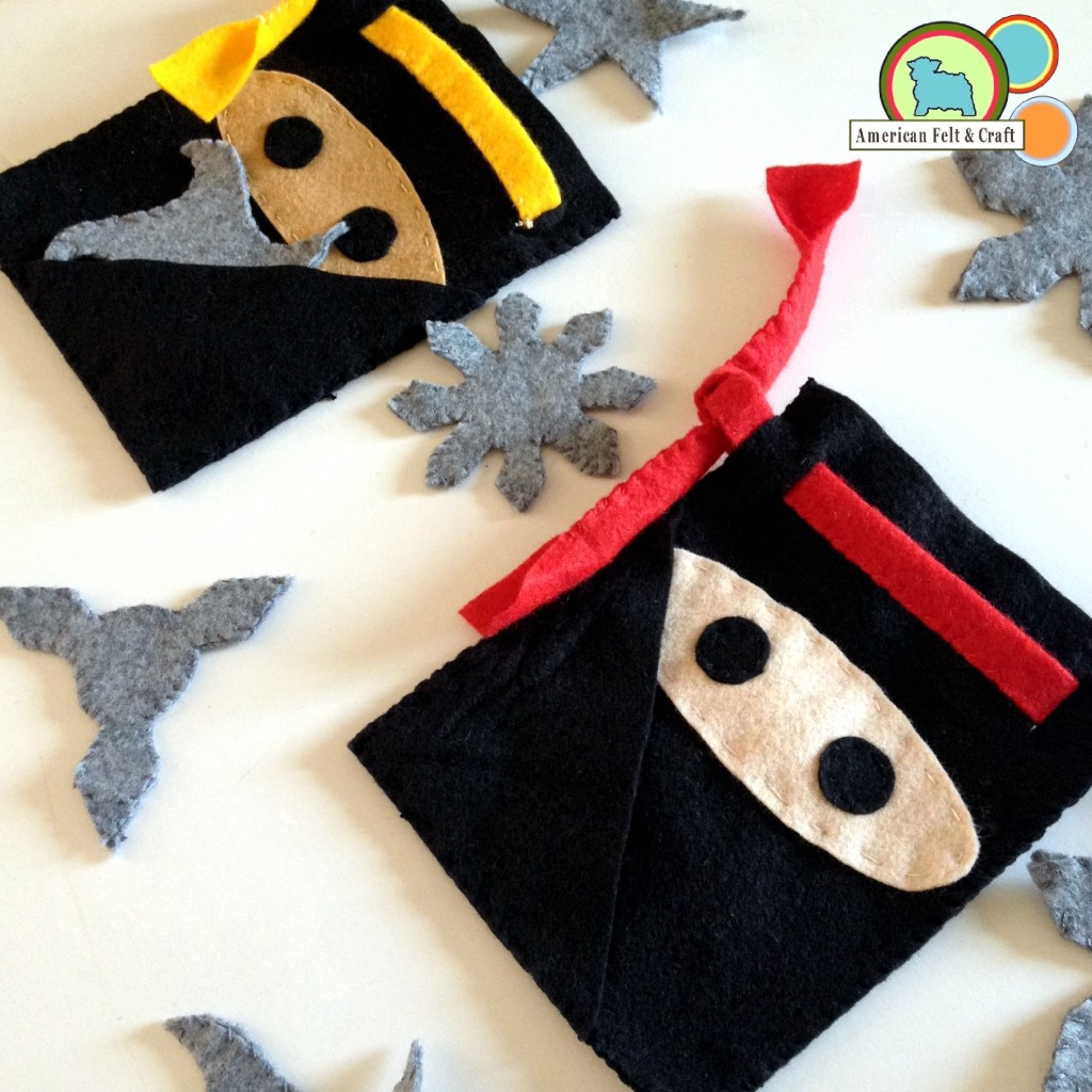 Felt Ninja Tutorial Craft- great boys craft