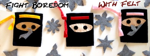 Ninja blet pouch and felt throwing stars craft tutorial- American Felt and Craft