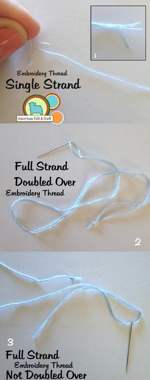 Cross stitching thread and felt