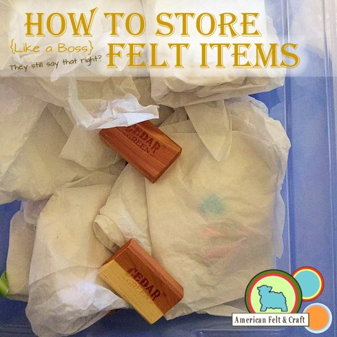 How to store felt Christmas Items