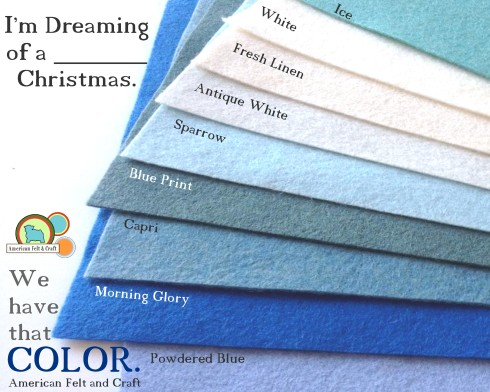 American Felt and Craft - hundreds of felt colors- worldwide shipping, felt supply