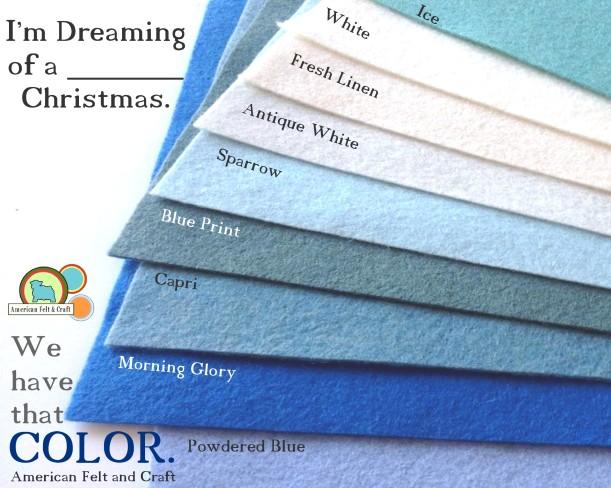 American Felt and Craft - hundreds of felt colors- worldwide shipping, felt supply