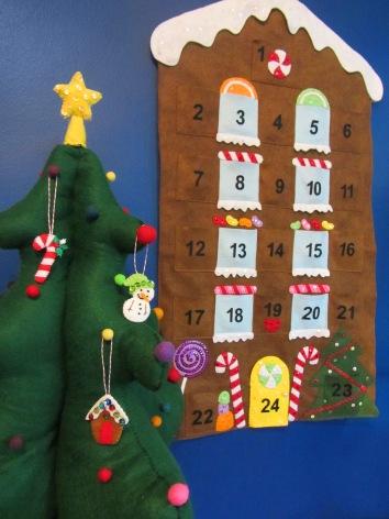 Gingerbread Advent Calendar Free Pattern