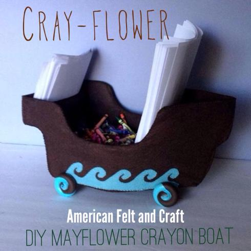 Thanksgiving crafts and patterns - Felt Mayflower