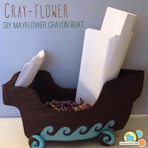 Felt Thanksgiving Crafts - Mayflower Ship Pattern Free