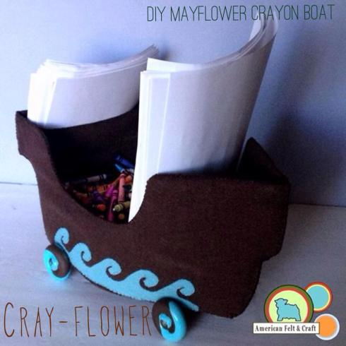 Felt Mayflower for kids table