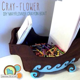 Thanksgiving Felt craft patterns - Mayflower wheel toy for kids table  American Felt and Craft
