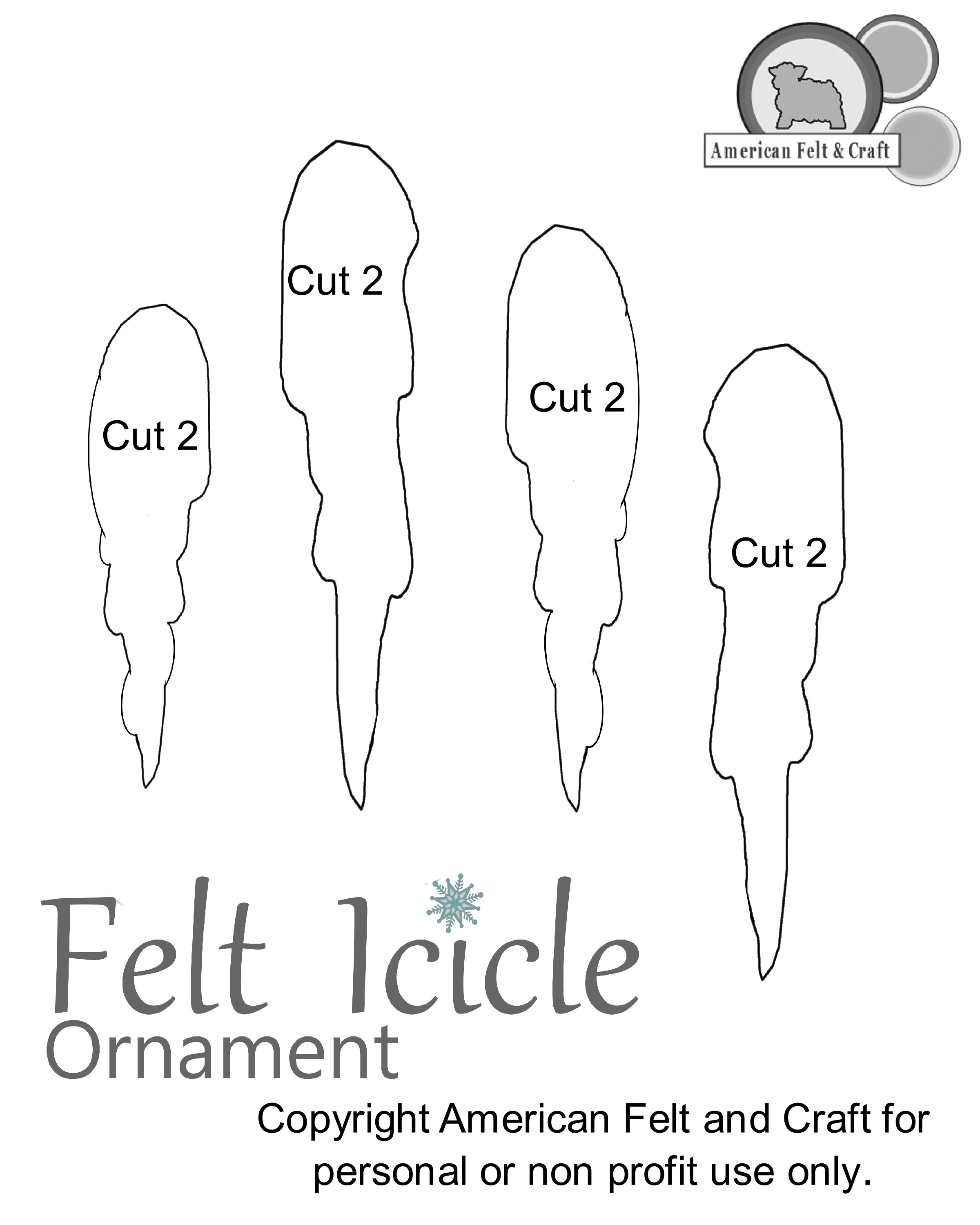 Felt Icicle Ornament Pattern