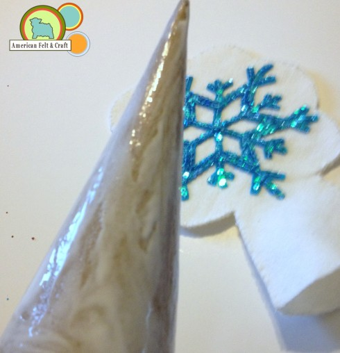 How to make a Felt Christmas Tree Topper Tutorial - American Felt and Craft