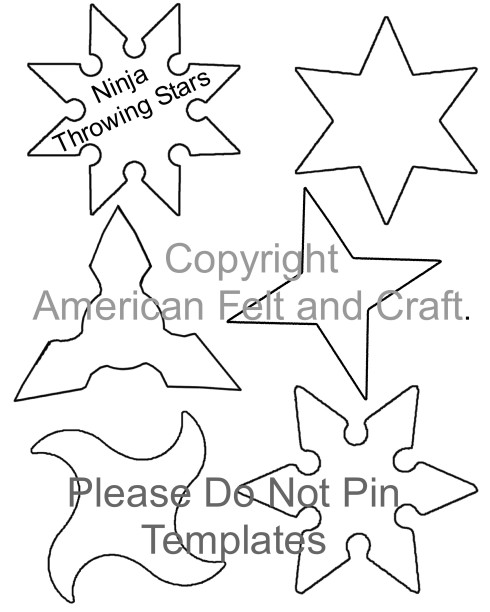 Felt throwing Star template - please do not pin template to pinterest.
