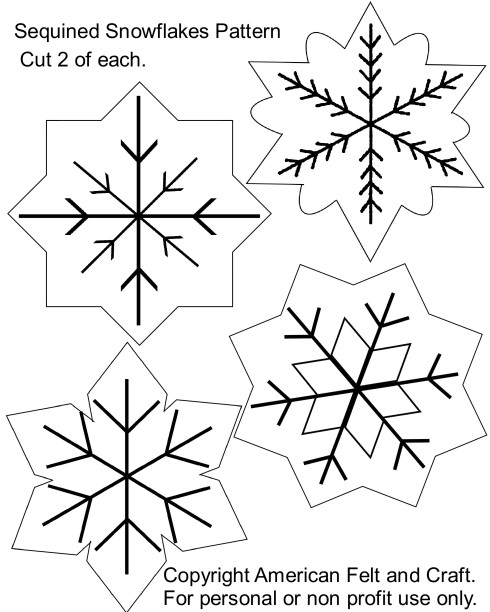 snowflake ornament pattern