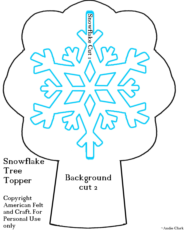 Christmas tree topper american felt craft blog snowflake tree topper template frozen christmas maxwellsz