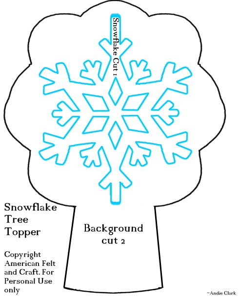 Snowflake Tree topper template - Frozen Christmas