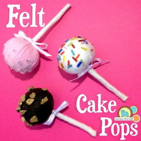 DIY felt cake pops