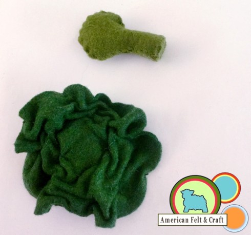 DIY felt food Broccoli veggies