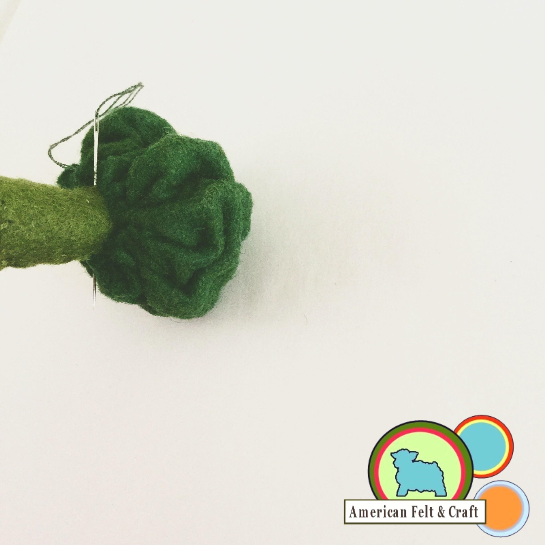Crafting Felt Broccoli