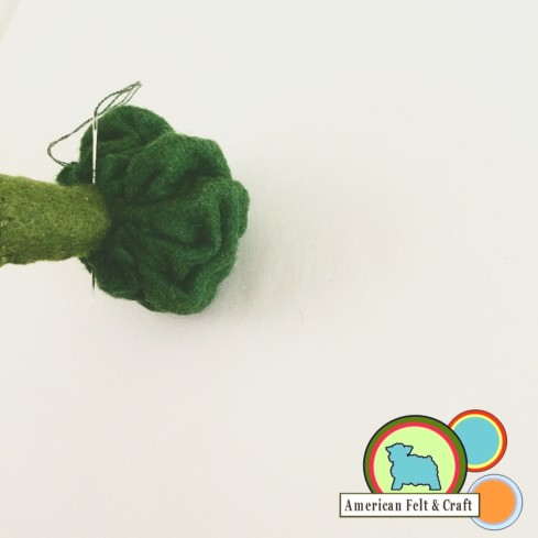 Crafting Felt Broccoli
