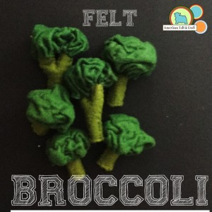Felt Broccoli tutorial - American Felt and Craft - felt food vegitables