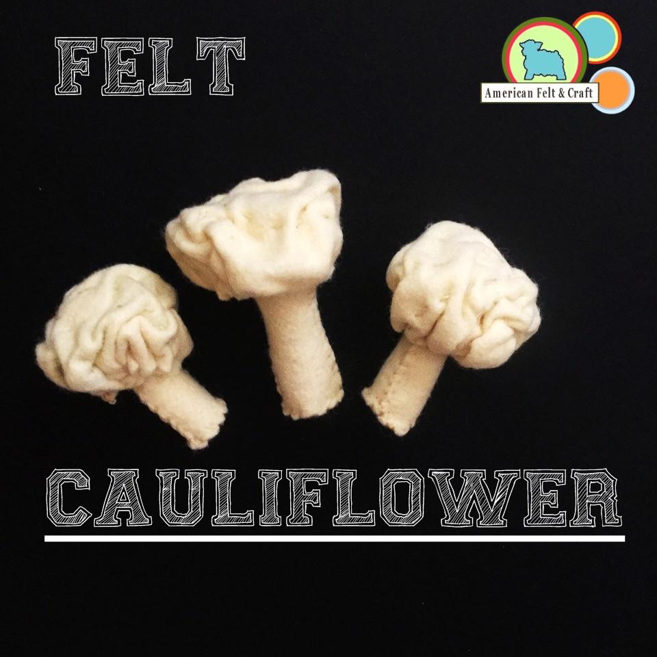 DIY Felt Cauliflower tutorial American Felt and Craft - Veggies