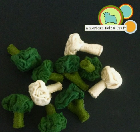 Felt food patterns free - veggies healthy food American Felt and Craft