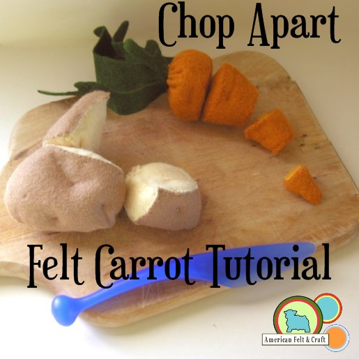 Free Felt cut apart veggie tutorial from American Felt and Craft #FeltFood