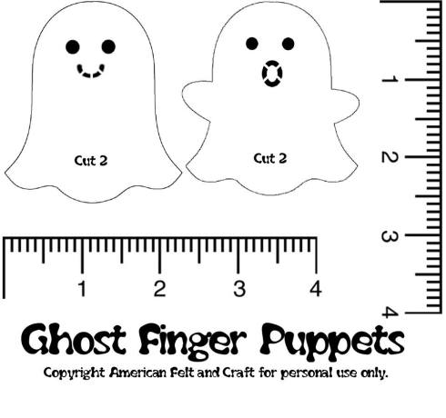 Halloween american felt craft blog ghost finger puppet templates pronofoot35fo Images